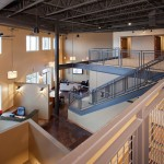 view from loft of mn real estate firm